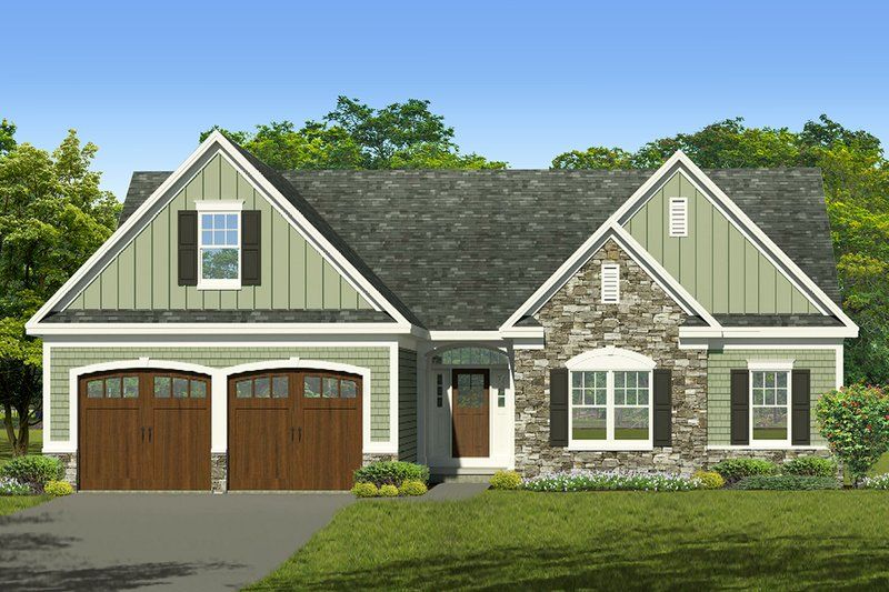 Ranch Exterior - Front Elevation Plan #1010-239