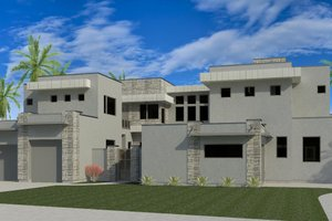 Modern Exterior - Front Elevation Plan #920-71
