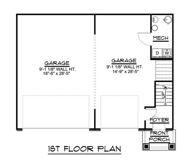 House Design - Craftsman Floor Plan - Main Floor Plan #1064-91