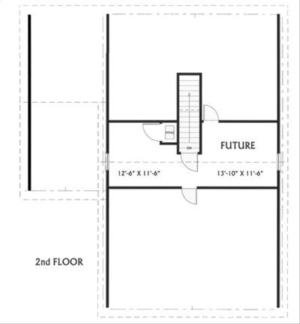 Farmhouse Floor Plan - Upper Floor Plan Plan #44-119