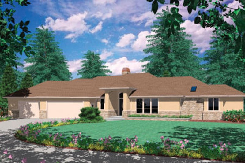Ranch Exterior - Front Elevation Plan #48-288