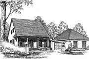 Country Style House Plan - 3 Beds 2.5 Baths 2247 Sq/Ft Plan #37-179 Exterior - Front Elevation
