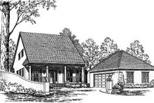 Country Exterior - Front Elevation Plan #37-179