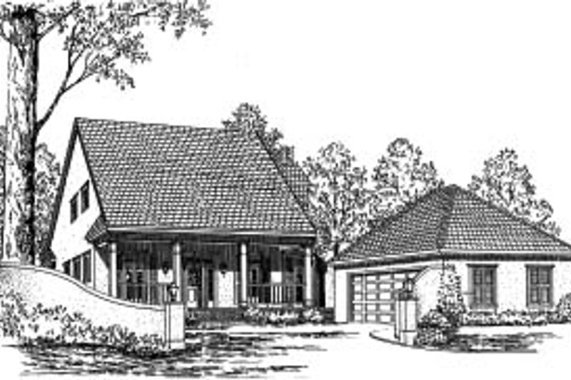 Country Exterior - Front Elevation Plan #37-179 - Houseplans.com