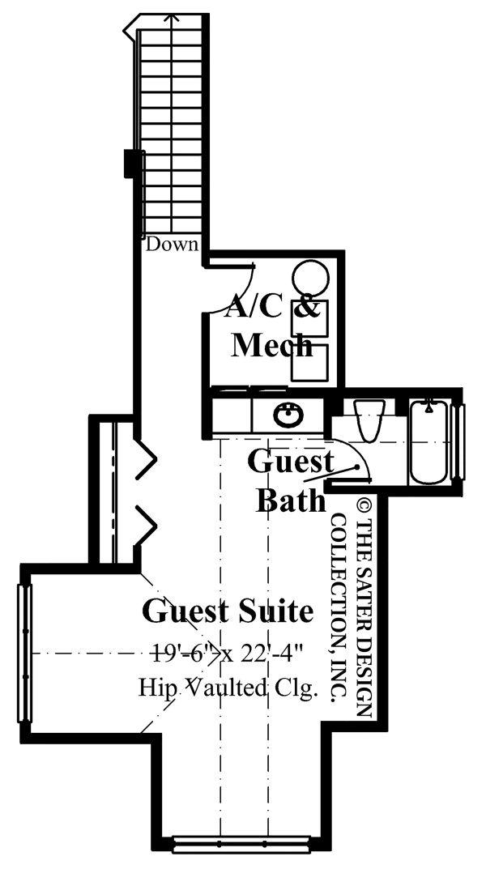 Architectural House Design - Contemporary Floor Plan - Upper Floor Plan #930-507