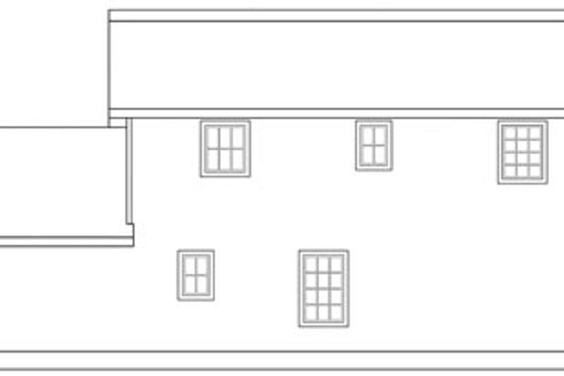 Craftsman Exterior - Rear Elevation Plan #124-803 - Houseplans.com