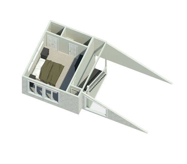 Contemporary Floor Plan - Upper Floor Plan Plan #57-626
