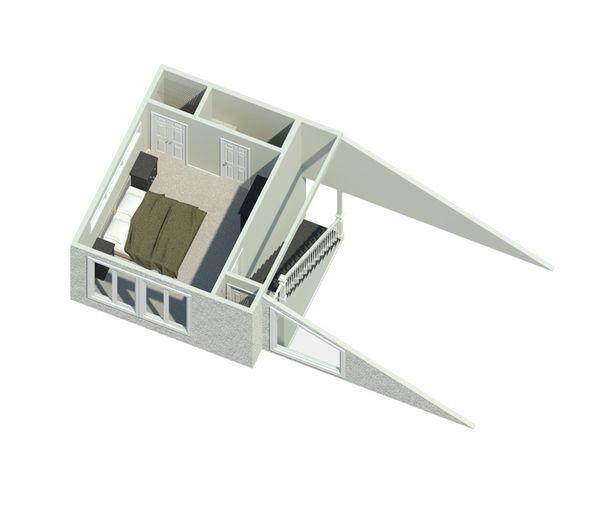 Contemporary Floor Plan - Upper Floor Plan #57-626