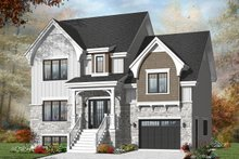 Architectural House Design - Traditional Exterior - Front Elevation Plan #23-2445