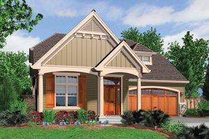 Cottage Exterior - Front Elevation Plan #48-633
