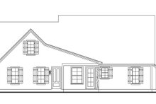 Cottage Exterior - Rear Elevation Plan #406-9662