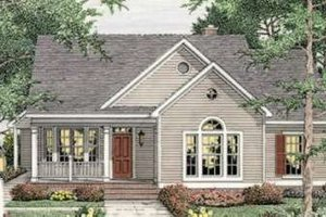 Farmhouse Exterior - Front Elevation Plan #406-265