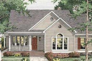Farmhouse Exterior - Front Elevation Plan #406-265