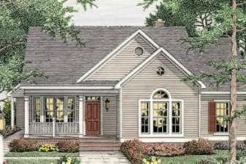 Farmhouse Style House Plan - 3 Beds 2 Baths 1539 Sq/Ft Plan #406-265 Exterior - Front Elevation