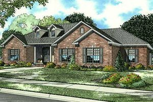 Traditional Exterior - Front Elevation Plan #17-648