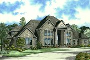 European Style House Plan - 5 Beds 6.5 Baths 7045 Sq/Ft Plan #17-1177 Exterior - Front Elevation