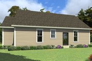 Farmhouse Style House Plan - 3 Beds 2.5 Baths 1207 Sq/Ft Plan #63-419 Exterior - Rear Elevation