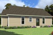Farmhouse Style House Plan - 3 Beds 2.5 Baths 1207 Sq/Ft Plan #63-419 Exterior - Rear Elevation