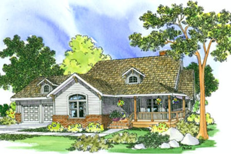 Country Exterior - Front Elevation Plan #124-217
