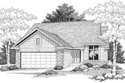 Traditional Style House Plan - 2 Beds 1.5 Baths 1334 Sq/Ft Plan #70-591 Exterior - Front Elevation
