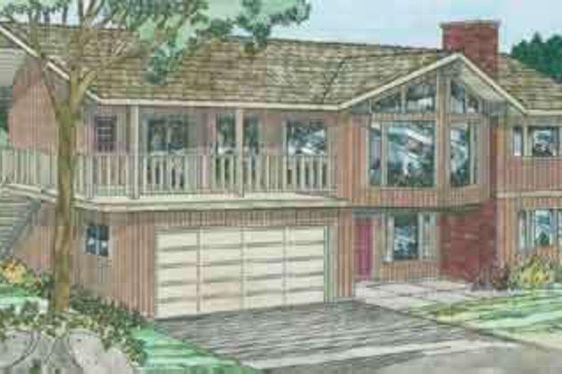 Modern Exterior - Front Elevation Plan #126-108 - Houseplans.com