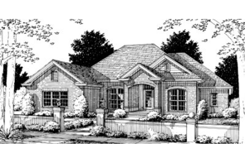 Traditional Exterior - Front Elevation Plan #20-345 - Houseplans.com