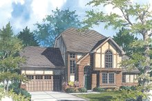 Tudor Exterior - Front Elevation Plan #48-211