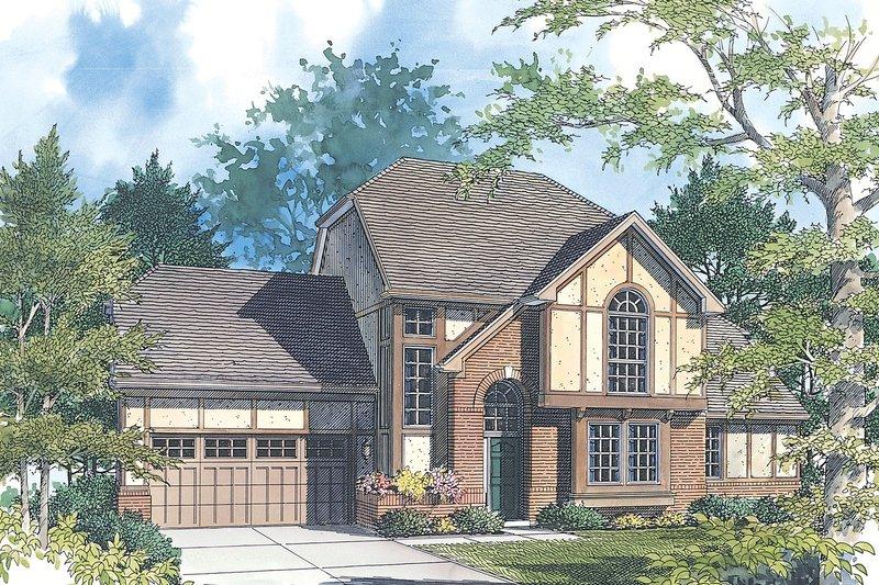 Home Plan - Tudor Exterior - Front Elevation Plan #48-211