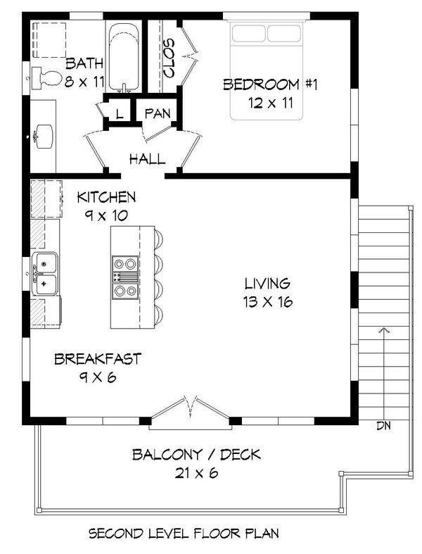 Modern Floor Plan - Main Floor Plan Plan #932-40