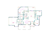 Traditional Style House Plan - 3 Beds 2 Baths 2502 Sq/Ft Plan #408-107 Floor Plan - Main Floor