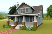 Craftsman Style House Plan - 4 Beds 3 Baths 2580 Sq/Ft Plan #461-47 Exterior - Front Elevation