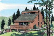 Contemporary Style House Plan - 3 Beds 2 Baths 1298 Sq/Ft Plan #312-602