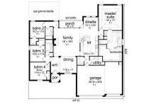 Traditional Floor Plan - Main Floor Plan Plan #84-590