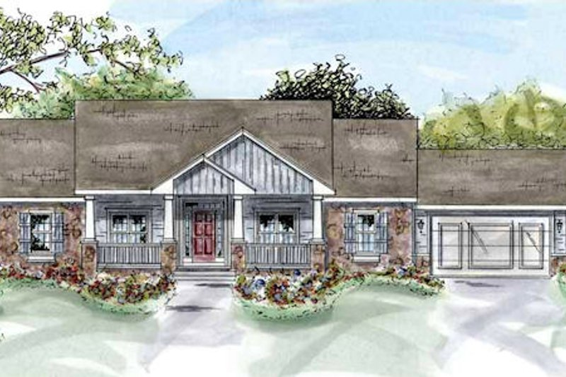 Traditional Exterior - Front Elevation Plan #20-1281