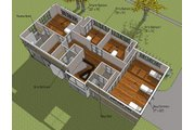 Prairie Style House Plan - 4 Beds 4 Baths 3725 Sq/Ft Plan #481-3 Floor Plan - Other Floor Plan