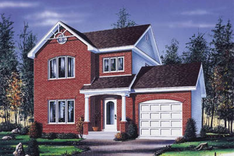 European Style House Plan - 3 Beds 1.5 Baths 1623 Sq/Ft Plan #23-2123 Exterior - Front Elevation