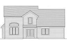 Colonial Exterior - Rear Elevation Plan #46-798