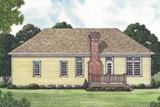 Traditional Style House Plan - 3 Beds 2 Baths 1383 Sq/Ft Plan #453-63 Exterior - Rear Elevation