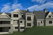 Craftsman Style House Plan - 6 Beds 7 Baths 8496 Sq/Ft Plan #920-42 Exterior - Other Elevation