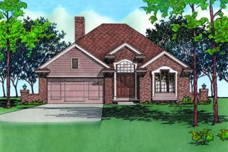 Traditional Exterior - Front Elevation Plan #20-475 - Houseplans.com