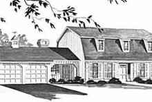 Dream House Plan - Colonial Exterior - Front Elevation Plan #36-394