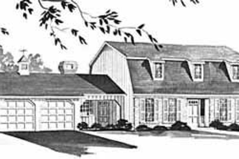 Colonial Exterior - Front Elevation Plan #36-394