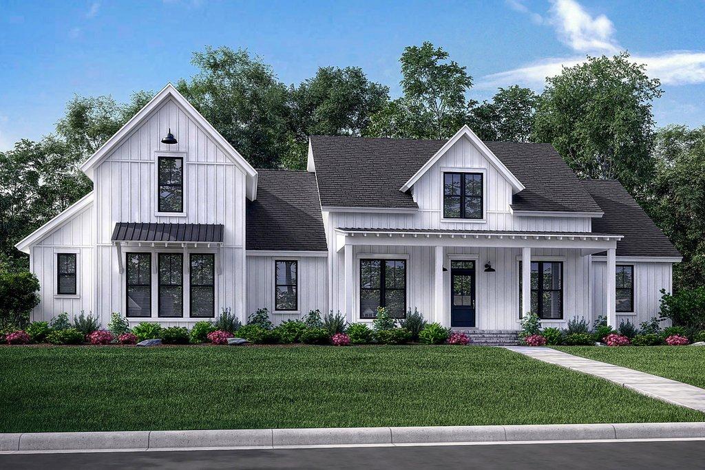 Farmhouse Exterior Front Elevation Plan 430 165