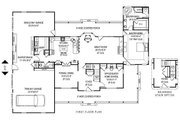 Country Style House Plan - 5 Beds 2.5 Baths 3464 Sq/Ft Plan #11-233 Floor Plan - Main Floor