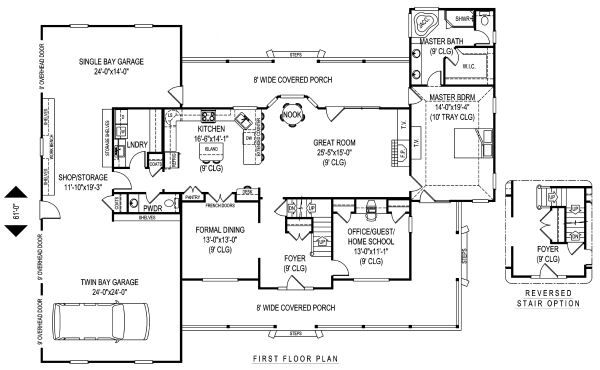 Country Floor Plan - Main Floor Plan Plan #11-233