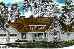 Country Exterior - Front Elevation Plan #40-109