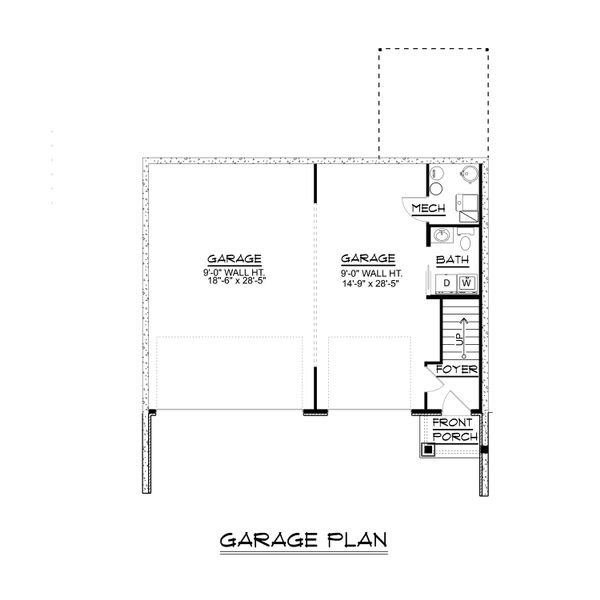 Cottage Floor Plan - Main Floor Plan Plan #1064-25