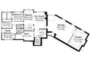 European Style House Plan - 4 Beds 3.5 Baths 4552 Sq/Ft Plan #51-547 Floor Plan - Lower Floor Plan