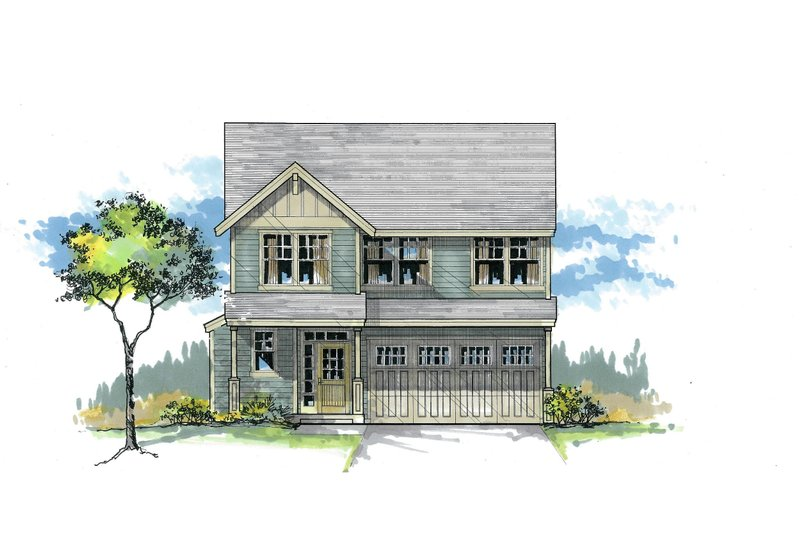 Craftsman Style House Plan - 4 Beds 235 Baths 2135 Sq/Ft Plan #53-474 Exterior - Front Elevation