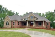 European Style House Plan - 3 Beds 2 Baths 4770 Sq/Ft Plan #437-63 Exterior - Front Elevation